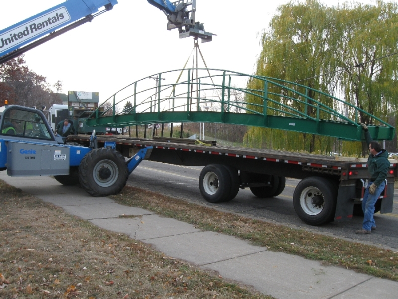 Lovegreen's Fabrication Shop custom designed and build this replacement bridge for a local golf course